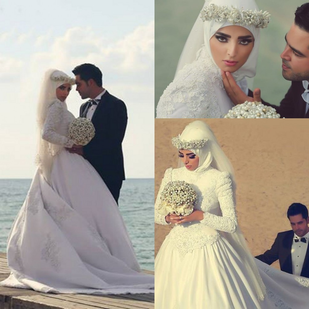 Popular muslim bride wedding dress buy cheap muslim bride for Cheap muslim wedding dresses