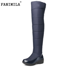 Buy New Women's Knee High Winter Boots Female Rubber Sole Warm Fur Shoes Outdoor Dress Platform Snow Boots Size 35-40 for $31.74 in AliExpress store