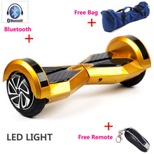 Buy Hot popular 8 inch 2 Wheel Self Smart Balance Scooter Led light Bluetooth+Remote+Bag Electric Skateboard Hoverboard for $247.00 in AliExpress store