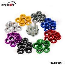 8 pz/lotto jdm style fender rondelle bumper lavatrice lisence bulloni della piastra di kit per civic accord tk-dp01s di alta qualità(China (Mainland))