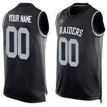 Men's Kenny Jim Stabler Plunkett Marcus Jack Allen Tatum Bo Howie Jackson Long Customs Name & Number Tank Tops!(China (Mainland))