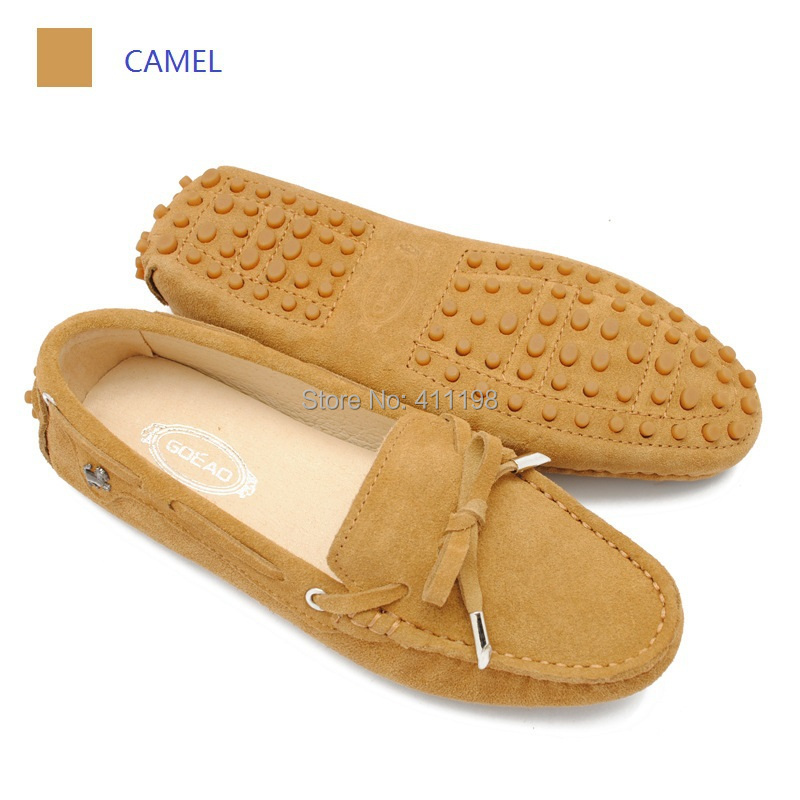 2014 new color Women bow tie leather Loafers lady Shoes F961 Moccasins Camel color available(China (Mainland))
