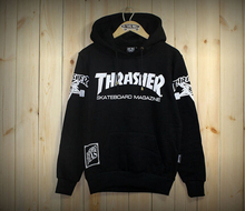 Hip hop men women sportswear hooded sweatshirts mens skateboard graphic pullover hoodies men thrasher hoodie pigalle tracksuit(China (Mainland))