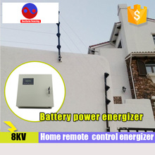 Free shipping remote control electric fence energizer for home security