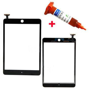 2016 Высокое Качество Для Apple mini 1/2 Black & White сенсорный Экран Стекла Digitizer Замена для iPad mini 1 & 2 + 5 мл УФ клей