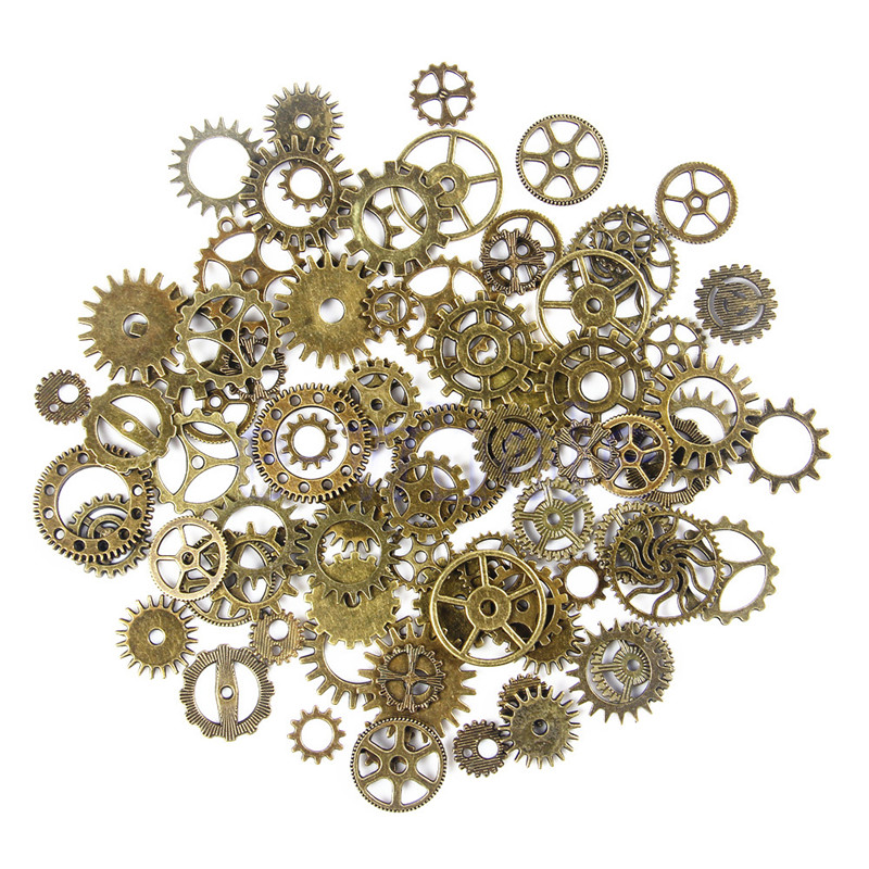 [PCMOS] 50g a Pack Steampunk Cyberpunnk Mix Cogs Watch Parts Gears DIY Craft Accessory Jewelry Creative Fashion 16040915(China (Mainland))