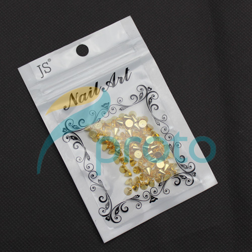 100pcs 4mmx5mm Gold Metal Nail Art Punk Cone Spike Studs Rhinestones DIY 3D Decoration Dropshipping [Retail] SKU:D0333