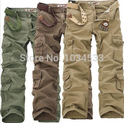 2015 New Fashion 2015 New Mens Casual Outdoor Pants Military Army Cargo Camo Combat Work Trousers(China (Mainland))