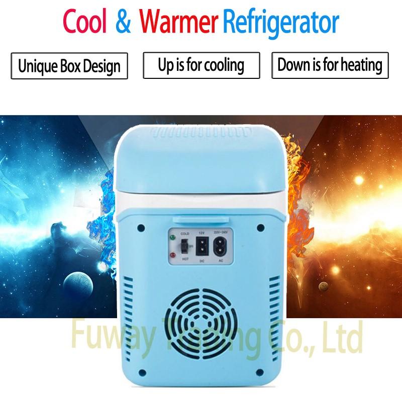 ถูก ดีเอชแอจัดส่งฟรี!!มินิอัตโนมัติ12โวลต์รถบ้านขนาดเล็กตู้เย็น7.5Lกล่องเย็นแบบพกพาและความร้อนกล่องรถตู้เย็นด้วยคอมเพรสเซอร์