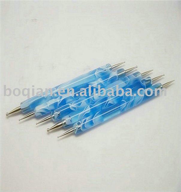5x 2way DOTTING Pen Marbleizing Tool Nail Art Dot Paint