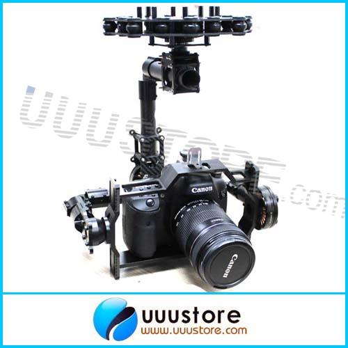 DYS 3-Axis Camera Brushless Gimbal for Canon 5D2/ MSLR Kit W/ 3x Motors - Aerial Photography Edition<br><br>Aliexpress