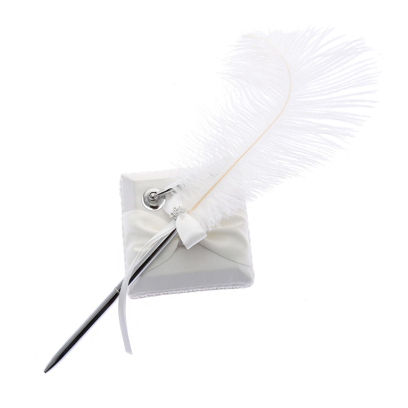 Ручка с пером для свадьбы своими руками 47