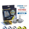 2x Plug Play H4 6000Lm CREE Chip XHP50 Led Hi Lo Beam 60W All In One
