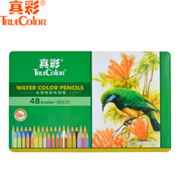 Truecolor 4576 water soluble iron boxed 12/24/36/48 color color pencil painting water soluble color lead