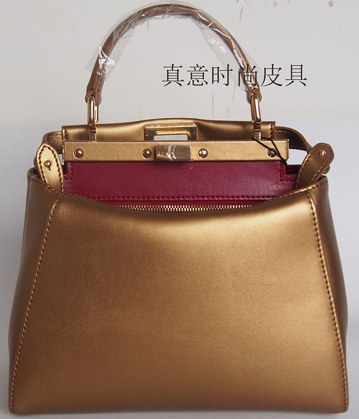 2015 women genuine leather women leather handbag messenger bag cowhide tote fashion shoulder bag bolsas Peekaboo mini(China (Mainland))