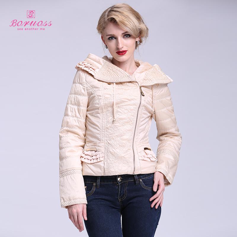 Женские пуховики, Куртки 2015 Boruoss b1033 женские пуховики куртки d3363