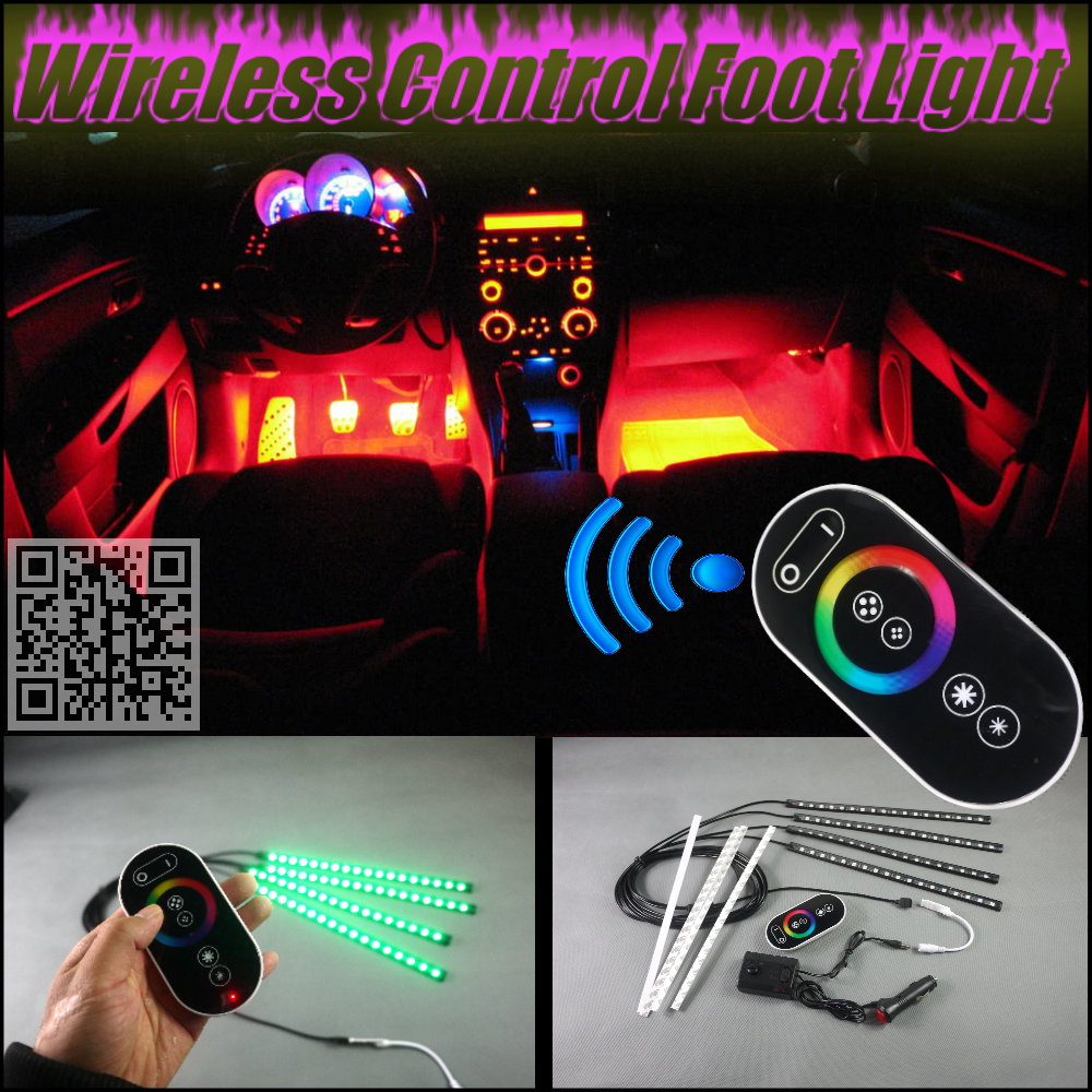 For Volvo V50 2004~2012 Wireless Control Color Neon Glow Interior Under Dash Footwell Decorative Atmosphere Seat Accent Light(China (Mainland))