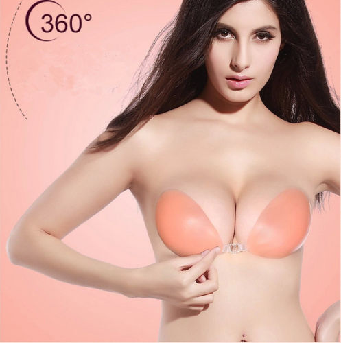 Sexy Hot Silicone Adhesive Stick On Backless Free Gel Push Up Strapless Invisible Bra Nipple Cover