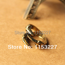 11.11 Shopping Festival Free shipping HOT SALE steampunk punk fashion gold bronze dragon eagle claw  ring anel