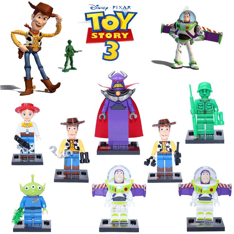 8pcs/lot SY172 Toy 4 Story action figures Buzz Lightyear/ Big devil/ Mr Potato Head/Jessie/Woody Minifigures building block sets(China (Mainland))