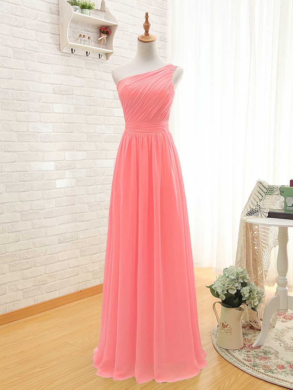 Popular Coral Colored Bridesmaid Dresses Buy Cheap Coral