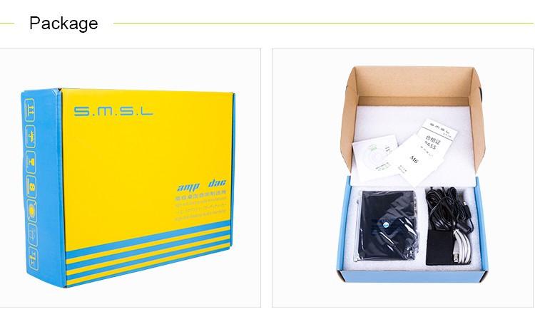SMSL M6 HiFi Audio Decoder USB OTG DAC 32Bit/384KHz Headphone Amplifier Asynchronous Multifunction AMP Aluminum Enclosure Black