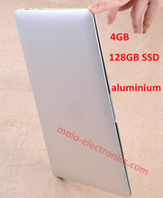 13.3inch aluminium ultrabook notebook computador laptop 8000mAh battery intel Celeron 1037U dual core 4GB ram 128GB SSD WIFI (China (Mainland))
