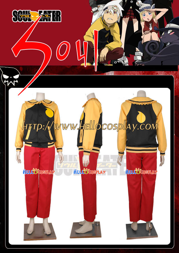 Free Shipping Soul Eater Cosplay Soul Costume Tailor-Made(China (Mainland))