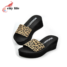 Discount Sunnycolore Summer Sandals High-Heeled Slippers Drag Women's Shoes Wedges Platform Flip Flops Sandals Size35-40(China (Mainland))