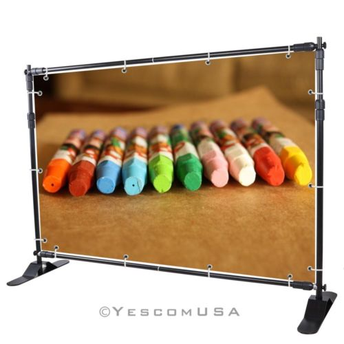 Banner 8' Display Backdrop Stand Adjustable Telescopic Trade Show Wall Exhibitor(China (Mainland))