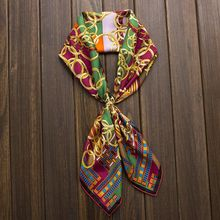 Top Grade Printing 100% Twill Silk Scarf, Women's Square Scarves Wraps Shawl 90cm Charming Accessory(China (Mainland))