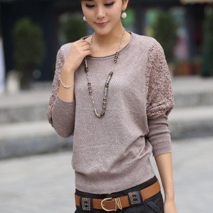 FREE SHIPPING large size long sleeve loose knitwear sweater(China (Mainland))