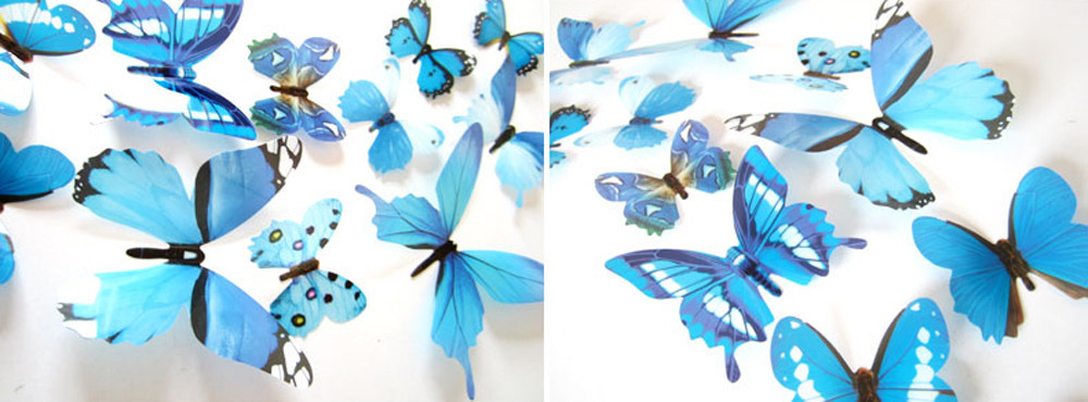 3D DIY Wall Sticker Stickers Butterfly Home Decor Room Decorations 2016  New Arrival High Quality  Free Shipping Nov 10