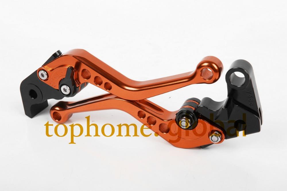 Hot Orange Motorcycle Accessories For MV Agusta Brutale 750 2001-2005 2002 2003 2004 Handlebar CNC Clutch Brake Levers Short(China (Mainland))