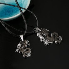 Multi Layer Leather Chain Lovers Necklace Fierce Dragon Pendant Necklaces 2pcs/Set Women Men Banquet Jewelry(China (Mainland))