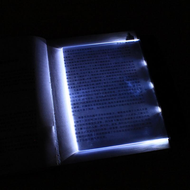 New Creative LED Reading Lamp Light Panel Lightwedge Bedside Plastic Eyecare Reading Lamp Gift For Girl Boy Friend 1PC(China (Mainland))