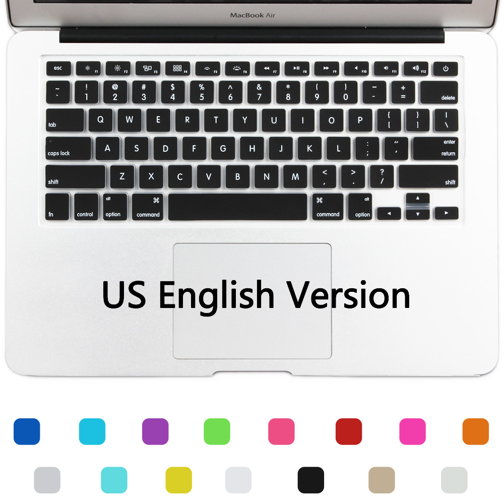 New Silicone US Version Keyboard Cover Skin For Apple MacBook Air 11 Mac Air 11.6 inch Keyboard film Only English(China (Mainland))