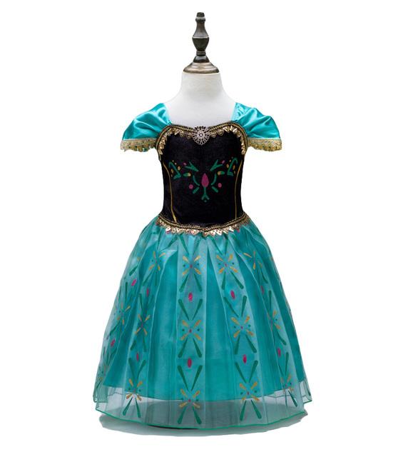Розничные детская одежда лета девушки блестки бантом хаббл - пузырь рукав вечерние платья день рождения ну вечеринку платье