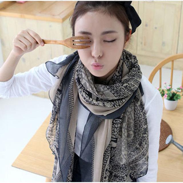 Открывая палевый вуаль тотем шарф женский супер длинные вискоза шарф шаль хиджаб cachecol sjaal W1027