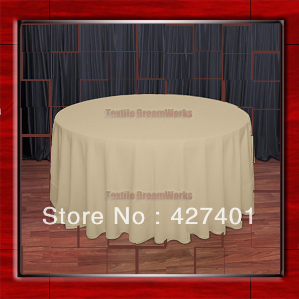 """Hot Sale 120""""R Camle 210GSM Polyester plain Table Cloth For Wedding Events & Party Decoration(Supplier)(China (Mainland))"""