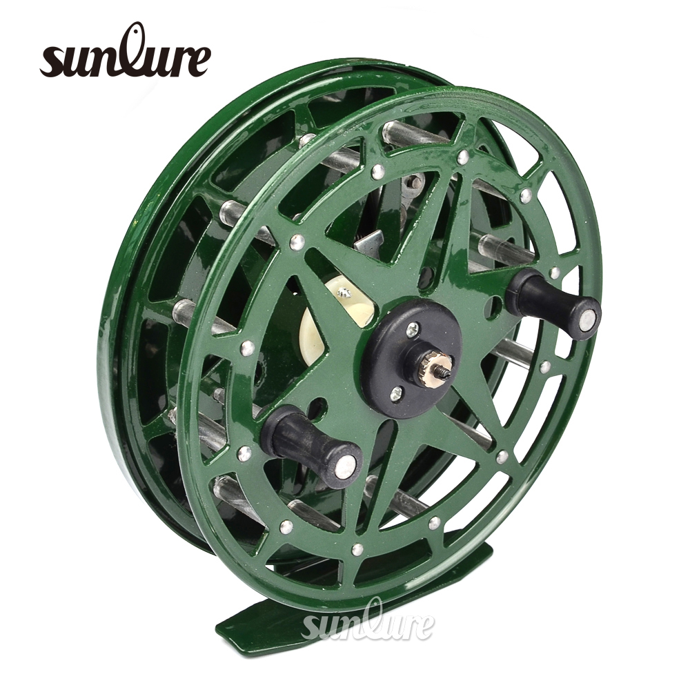 1pc Top Quality Aluminum 2 Bears Fly Fishing Reel 12.5CM Green Color Ice Fly Fishing Wheel 320g Fishing tackle XT918A(China (Mainland))