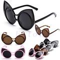 Women Retro Vintage Shades Oversized Designer Frame Cat Eye Sunglasses Eyewear