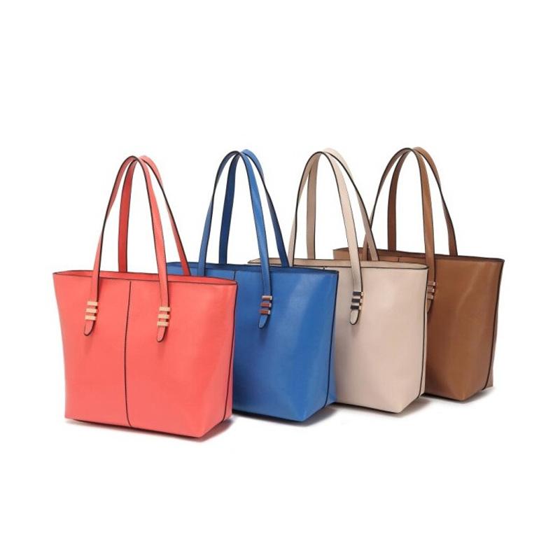 2016 Hot Fashion Women Shoulder Bag Elegant Pure Color Big Shoulder Handbags All-Match Women Famous(China (Mainland))