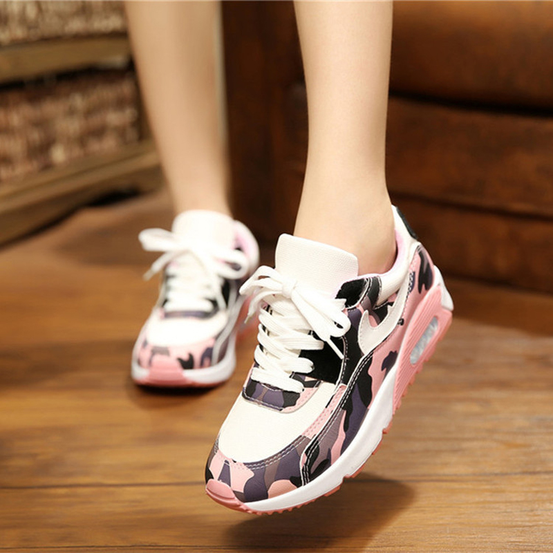 2016 New Fashion Womens Platform Shoes Sales Trainers Pink Black Top Quality Brand Valentine Air Mesh Shoes Woman footwear(China (Mainland))
