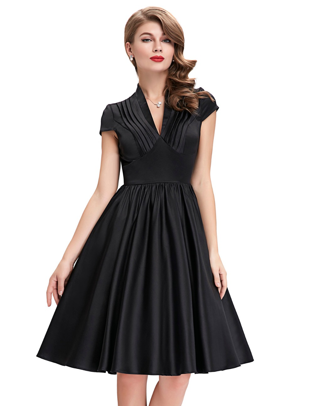 buy 2016 new style black red summer dress plus size women 60s clothing woman. Black Bedroom Furniture Sets. Home Design Ideas