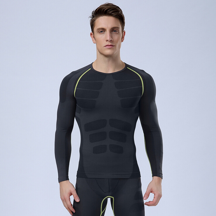 Free shipping new bodybuilding fitness men long sleeve for Free gym t shirts