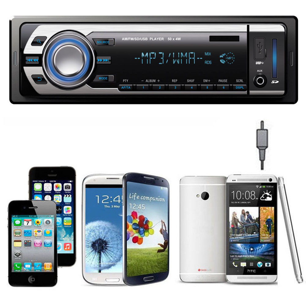 Vovotrade 2015 Automotivo Car USB SD Mp3 Player AUX Input Stereo In-Dash FM Receiver With English Manual(China (Mainland))