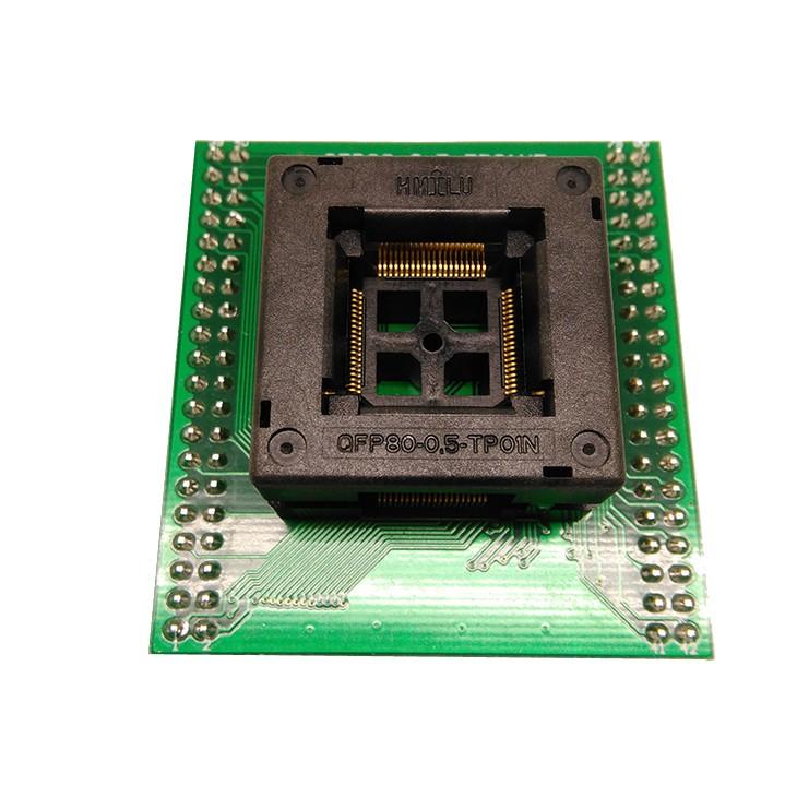 TQFP80 FQFP80 QFP80 to DIP80 Programming Socket OTQ-80-0.5-02B Pitch 0.5mm IC Body Size 12x12mm Test Adapter