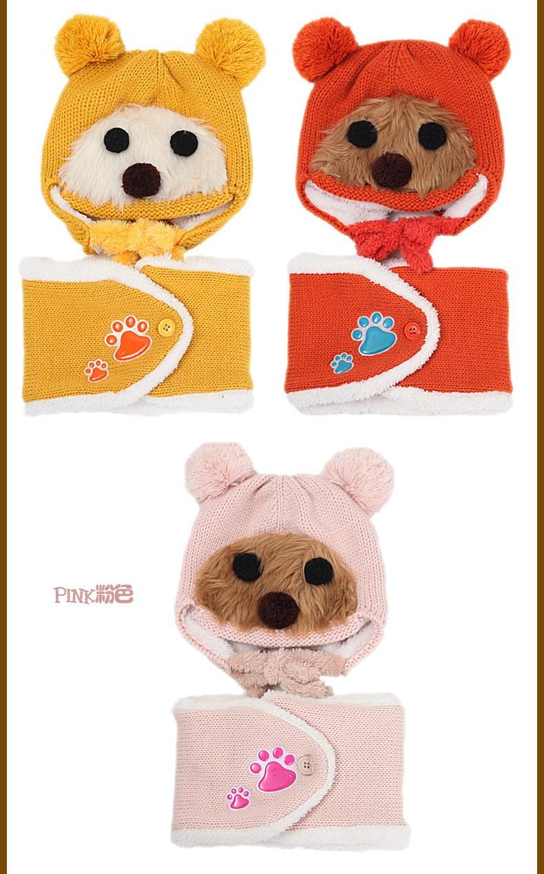 Winter Baby Toddler Boys Girls Winter Ear Flap Warm Hat Bebe Hat With Scarf Beanie Cap Monkey Kids Winter Cap Children Headwear