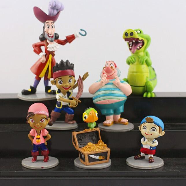 Гаджет  New 7pcs/set Anime Cartoon Jake and The Neverland Pirates PVC Action Figure Toys Free Shipping None Игрушки и Хобби